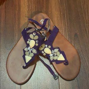 Purple Jewelled Sandals